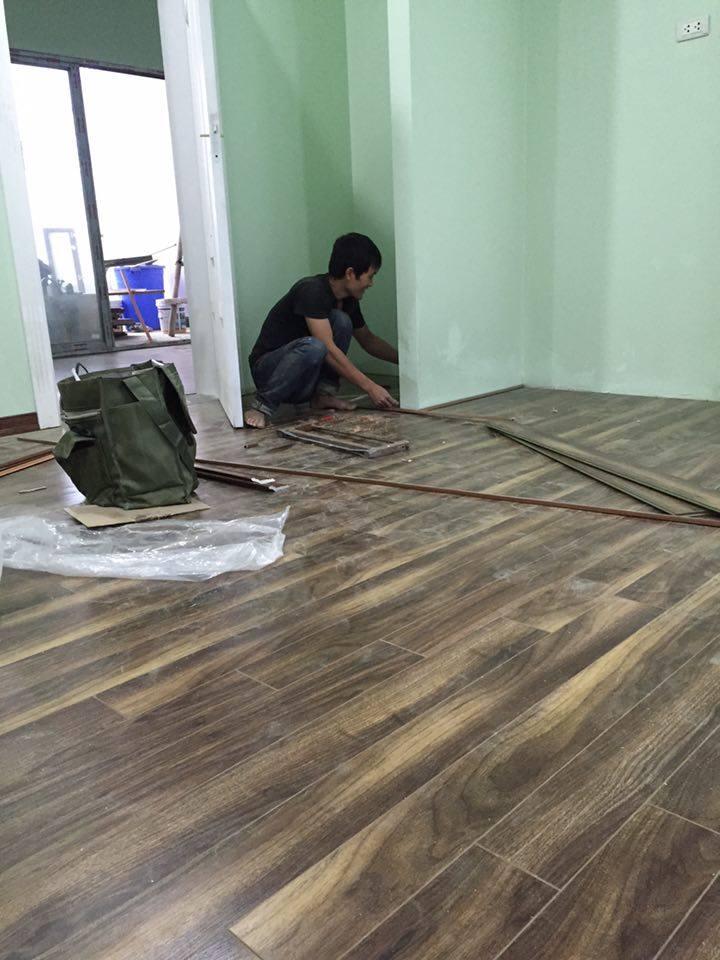 Hình ảnh thi công ván sàn gỗ Vinasan